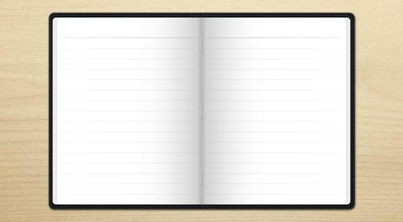 紙のノート無料 psd ファイル