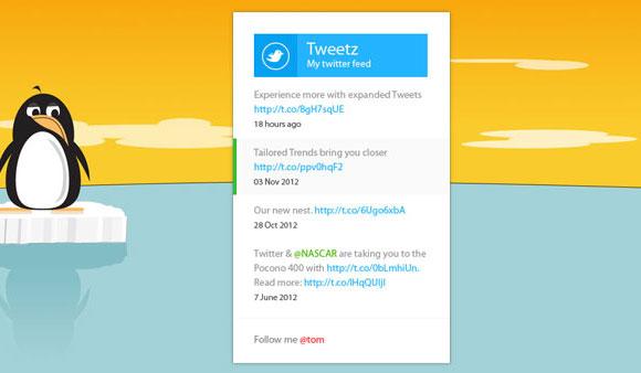 地下鉄の Twitter のフィードのウィジェット CSS + psd ファイル
