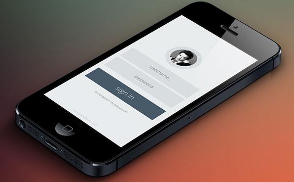 PSD モバイル ログイン フォーム