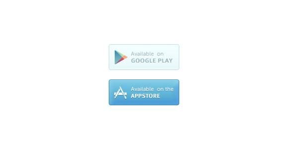 Google プレイ & Appstore PSD ボタン
