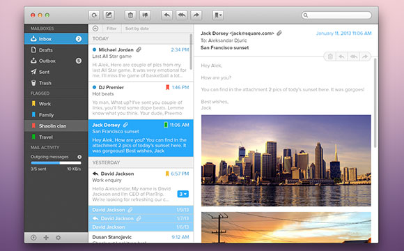 無料 PSD メール アプリ GUI