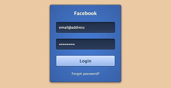 CSS3 Facebook ログイン フォーム