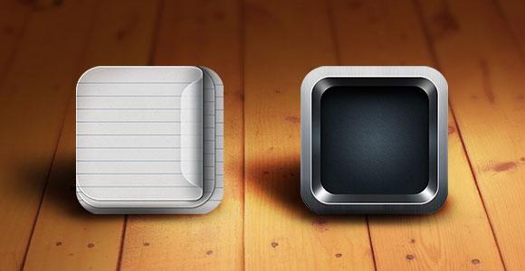PSD 網膜対応の iOS アプリ アイコン テンプレート