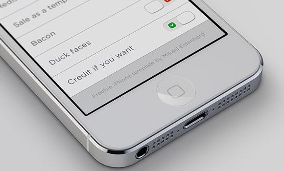 iPhone5 PSD モックアップ テンプレート