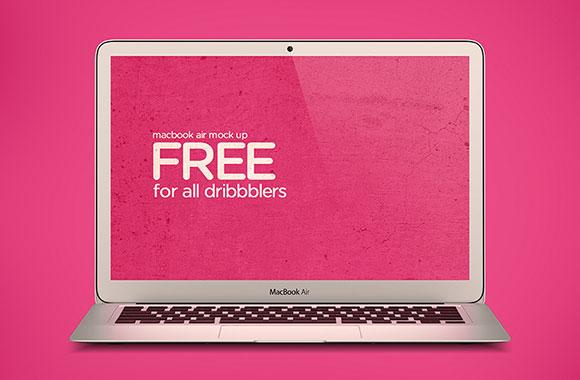 無料 Macbook Air のモックアップ