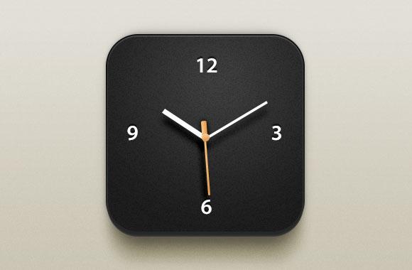 美しい時計 iOS アイコン PSD