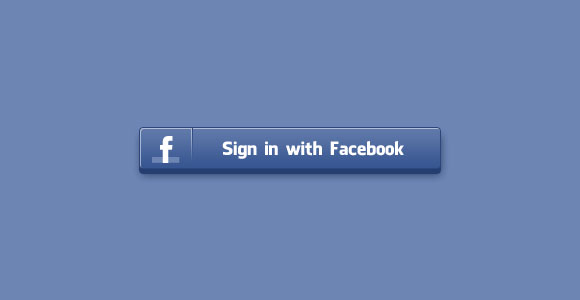 ログイン Facebook PSD ボタン