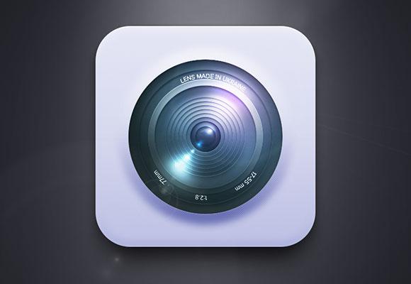 無料 PSD カメラ レンズ アイコン