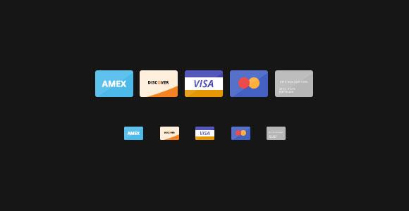 フラット クレジット カード アイコン PSD