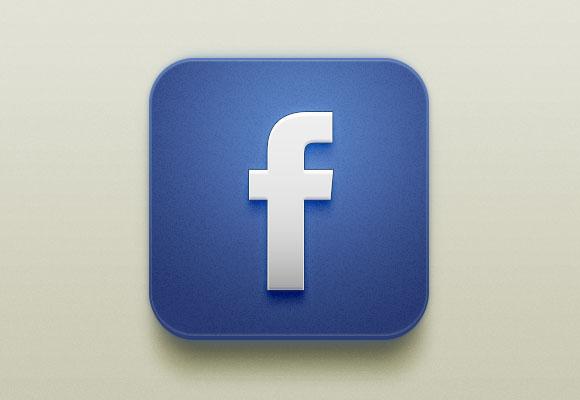 美しい Facebook iOS アイコン PSD