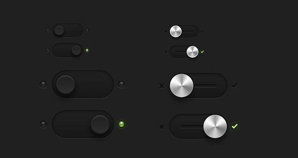 暗いエッセンシャル スイッチ & PSD を切り替えます