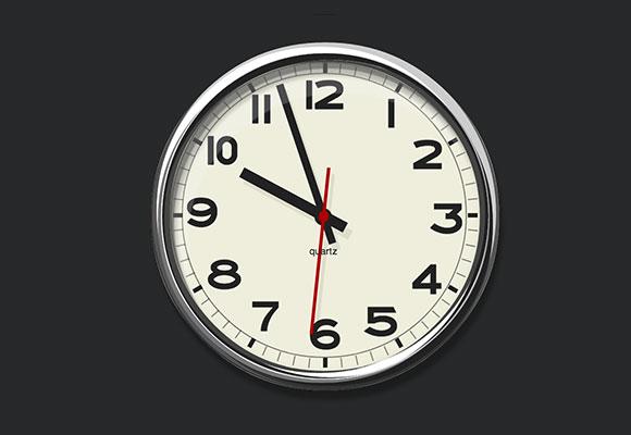 純粋な CSS3 壁アナログ時計