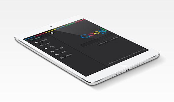 Google.com - 再設計された無料の PSD