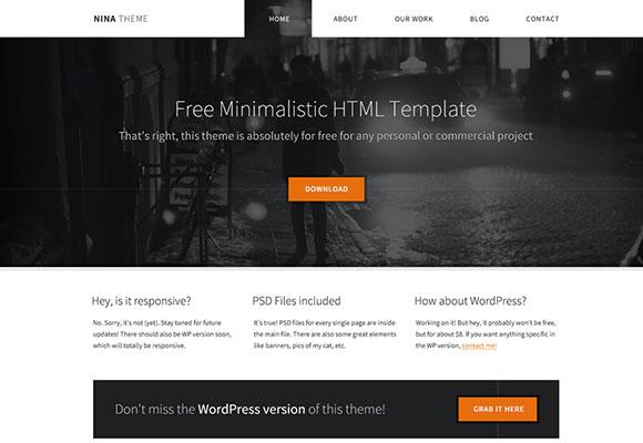 Nina - 最小限の無料の HTML テンプレート