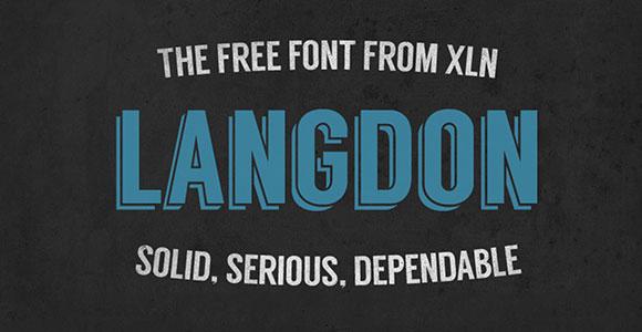 無料のワードプレスのテーマに焦点を当ててください。ラングドンのフリー フォント
