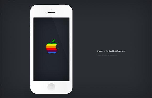 iPhone5 最小限モックアップ無料 psd ファイル