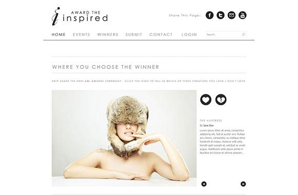 インスピレーションのきれいな PSD ウェブサイトを賞します。