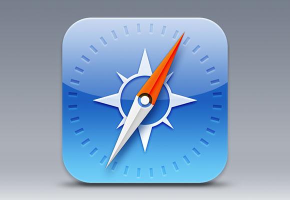 iOS7 Safari のアイコン PSD