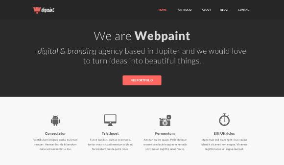 Webpaint - 無料の PSD のウェブサイト テンプレート