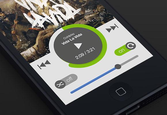 新しい Spotify iOS アプリの UI - PSD
