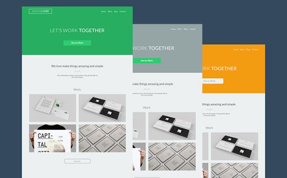 デザイン & コード: 無料 PSD のテーマ