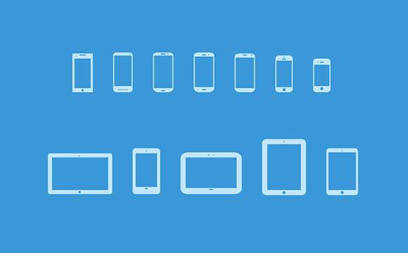 モバイル デバイスのアイコン V3 PSD