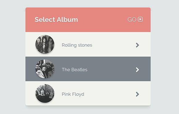 アルバムの選択 CSS のスニペット