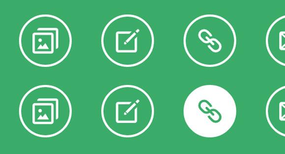 シンプルなアイコン ホバー効果の CSS