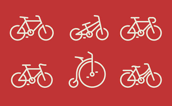 自転車アイコン PSD