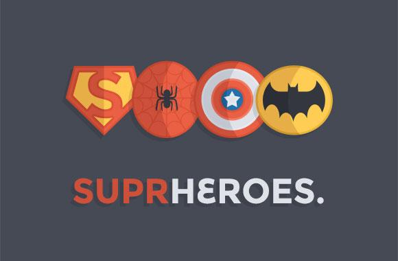 スーパー ヒーロー バッジ PSD