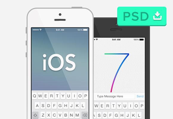 iOS7 & セミフラット iPhone 5 実物大模型