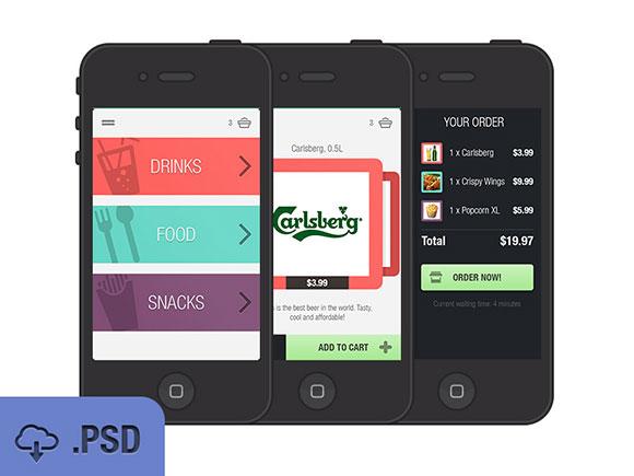 フード & ドリンク アプリ UI