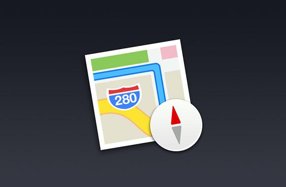 iOS7 地図アイコン PSD