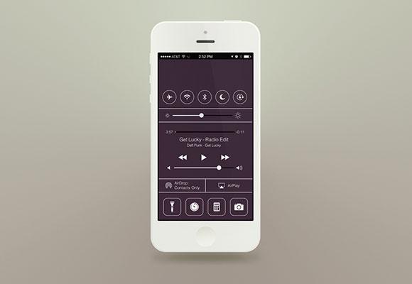 フラット iOS7 - コントロール センター