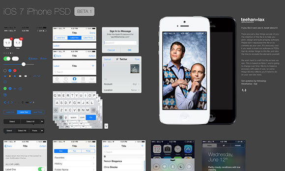 iOS GUI PSD