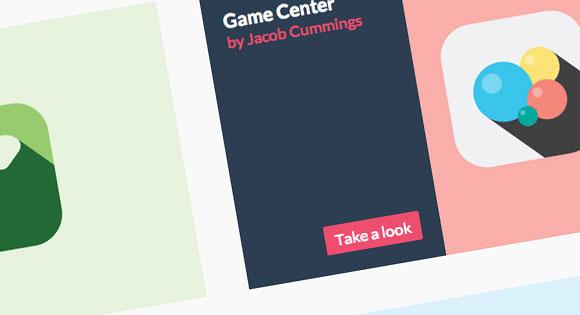 キャプションの CSS ホバー効果