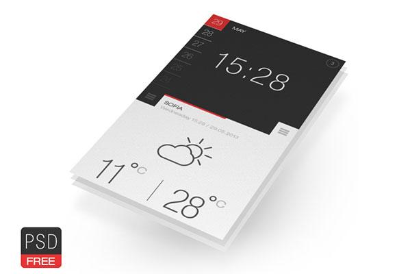 天気 & 時間 PSD アプリ