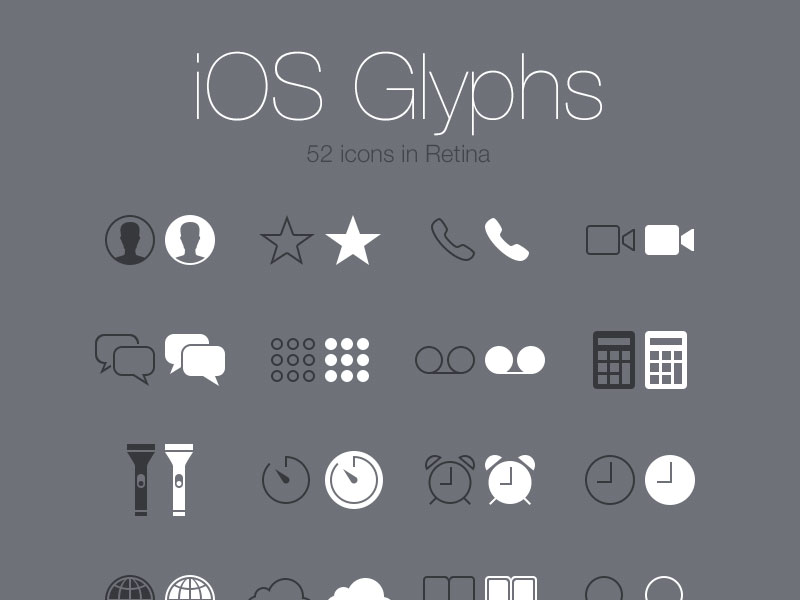 iOS7 グリフ PSD
