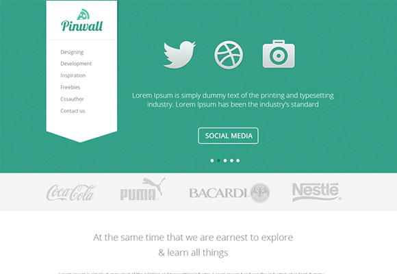 Pinwall - 現代ウェブサイト テンプレート