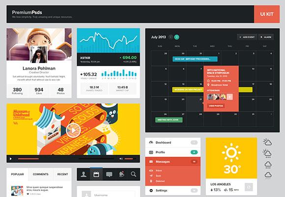 PSD の web デザイナー UI キット