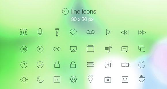 iOS7 風のアイコン