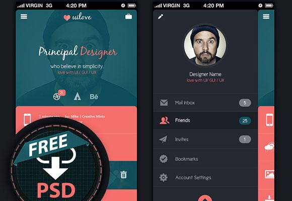 アプリ UI コンセプト PSD