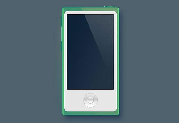 iPod Nano のモックアップ