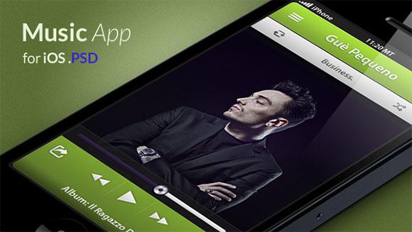 iOS の音楽アプリのコンセプト