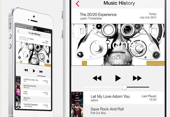 IOS7 の音楽の歴史