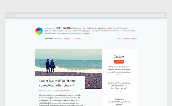 PSD の無料ブログのテーマ