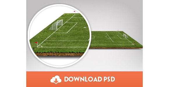 サッカーのピッチ PSD