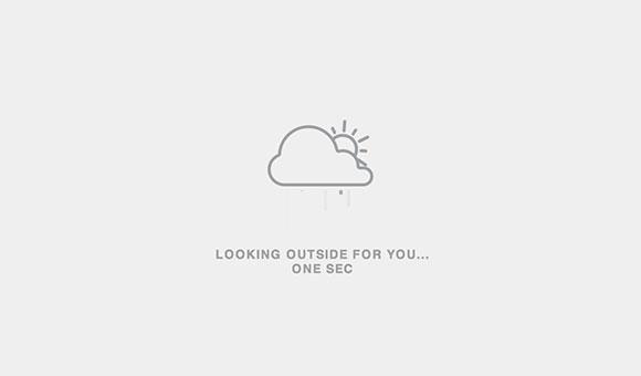 天気を積み込んでいるアニメーション
