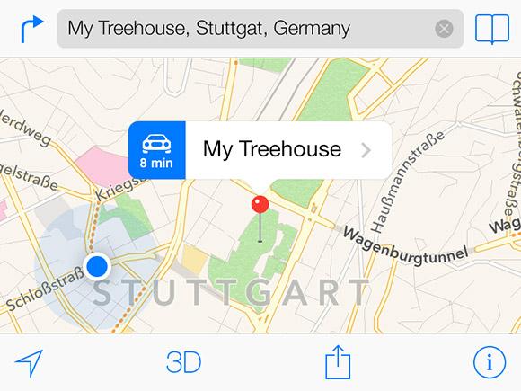 iOS7 マップのテンプレート