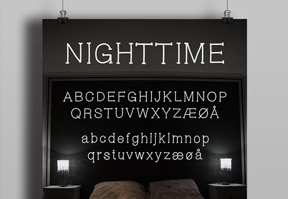 夜間のフリー フォント
